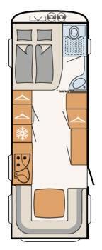 Dethleffs Camper 670 FAR - Plano - Distribución