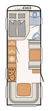 Dethleffs Camper 670 FSR - Plano - Distribución