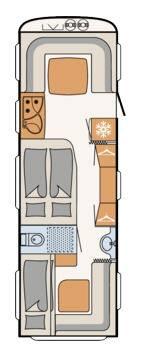 Dethleffs Camper 740 RFK - Plano - Distribución