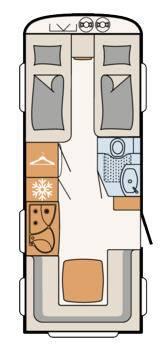 Dethleffs Nomad 510 ER - Plano - Distribución