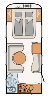 Dethleffs Nomad 540 DHM - Plano - Distribución