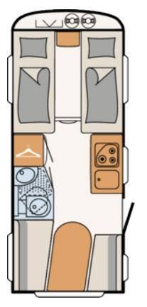 Dethleffs C'GO 475-EL - Plano - Distribución