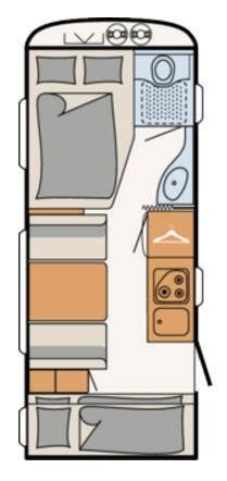 Dethleffs C'TREND 505-FSK - Plano - Distribución