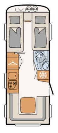 Dethleffs C'TREND 515-ER - Plano - Distribución