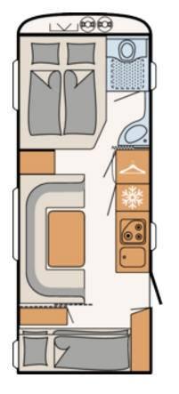 Dethleffs C'TREND 565-FMK - Plano - Distribución