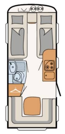 Dethleffs CAMPER 470-ER - Plano - Distribución