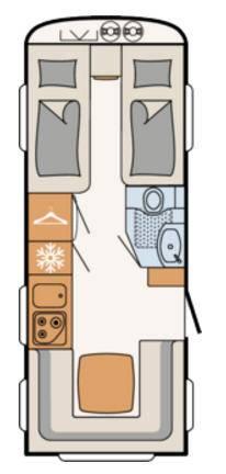 Dethleffs CAMPER 510-ER - Plano - Distribución