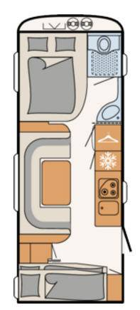 Dethleffs CAMPER 560-FMK - Plano - Distribución