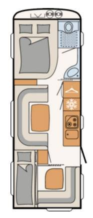 Dethleffs CAMPER 650-FMK - Plano - Distribución