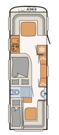 Dethleffs CAMPER 740-RFK - Plano - Distribución