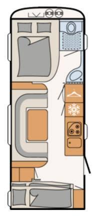Dethleffs NOMAD 560-FMK - Plano - Distribución
