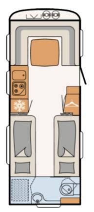 Dethleffs NOMAD 560-RET - Plano - Distribución