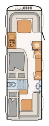 Dethleffs NOMAD 740-RFK - Plano - Distribución