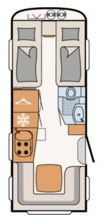 Dethleffs BEDUIN 510-ER - Plano - Distribución