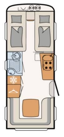Dethleffs BEDUIN 550-ER - Plano - Distribución