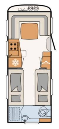 Dethleffs BEDUIN 560-RET - Plano - Distribución