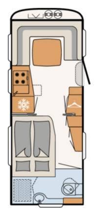 Dethleffs BEDUIN 560-RFT - Plano - Distribución