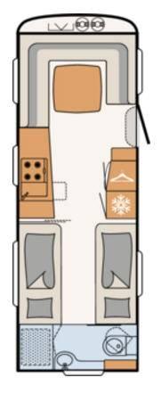 Dethleffs BEDUIN 650-RET - Plano - Distribución