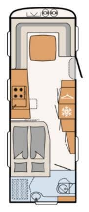 Dethleffs BEDUIN 650-RFT - Plano - Distribución