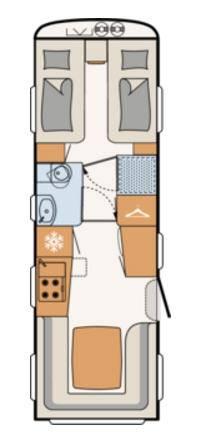 Dethleffs BEDUIN 760-ER - Plano - Distribución
