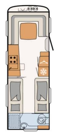 Dethleffs EXCLUSIV 650-RET - Plano - Distribución