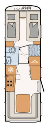 Dethleffs EXCLUSIV 760-ER - Plano - Distribución