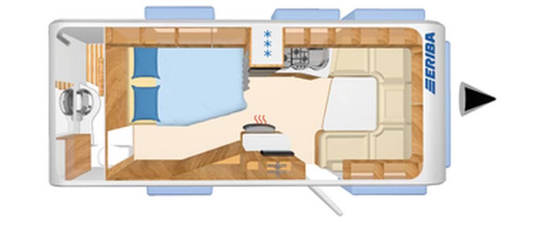Eriba NOVA GL 585 - Plano - Distribución