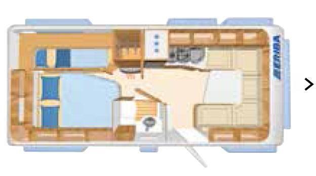Eriba NOVA GL 595 - Plano - Distribución