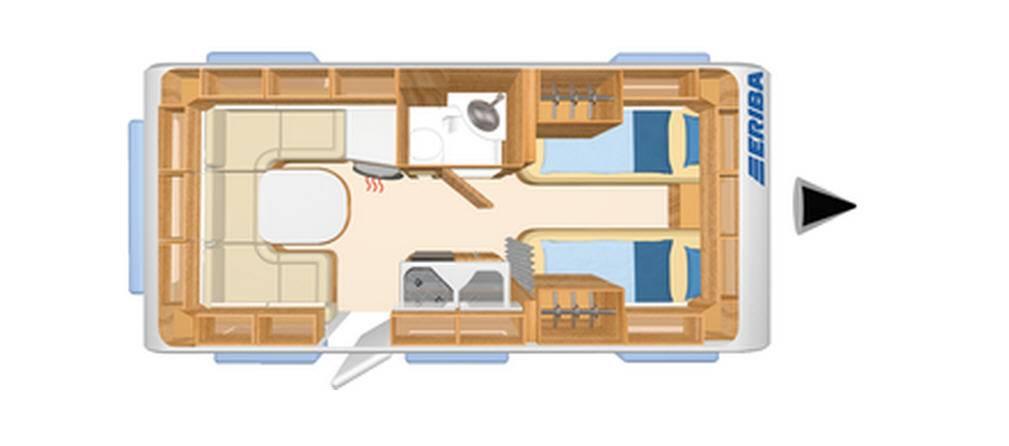Eriba NOVA SL 540 - Plano - Distribución