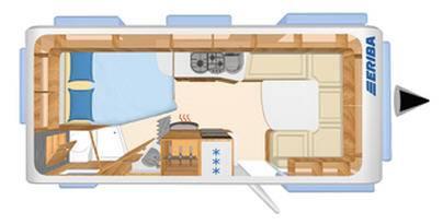 Eriba NOVA SL 545 - Plano - Distribución