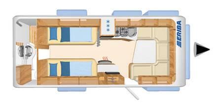 Eriba NOVA SL 580 - Plano - Distribución