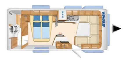 Eriba NOVA SL 590 - Plano - Distribución