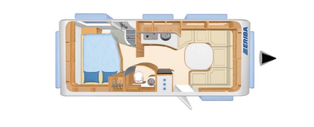 Eriba NOVA S 590 - Plano - Distribución