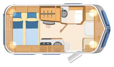 Eriba Touring Troll 530 - Plano - Distribución