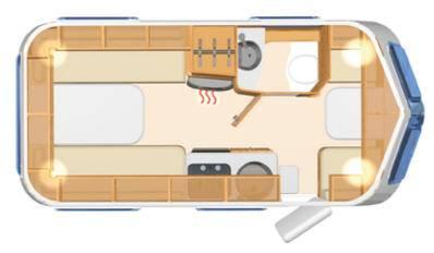 Eriba Touring Troll 542 - Plano - Distribución