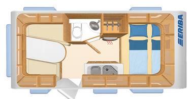 Eriba Living 437 - Plano - Distribución