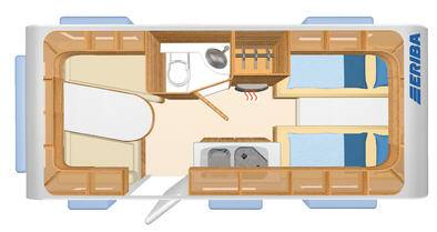Eriba Living 490 - Plano - Distribución