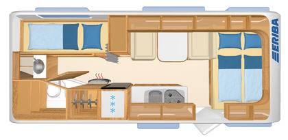 Eriba Living 574 - Plano - Distribución