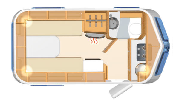 Eriba TOURING Triton 420 - Plano - Distribución