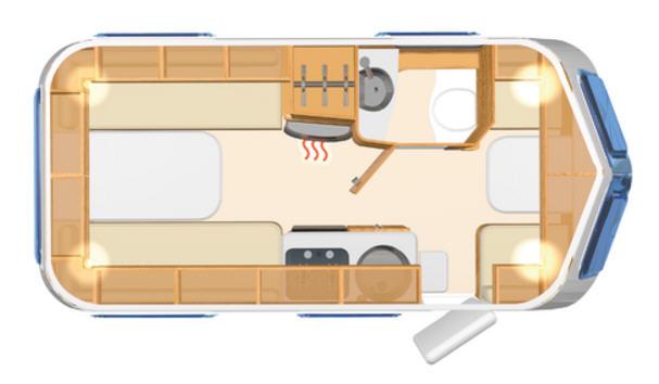 Eriba TOURING Troll 540 - Plano - Distribución