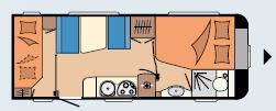 Hobby DELUXE 540 KMFe - Plano - Distribución