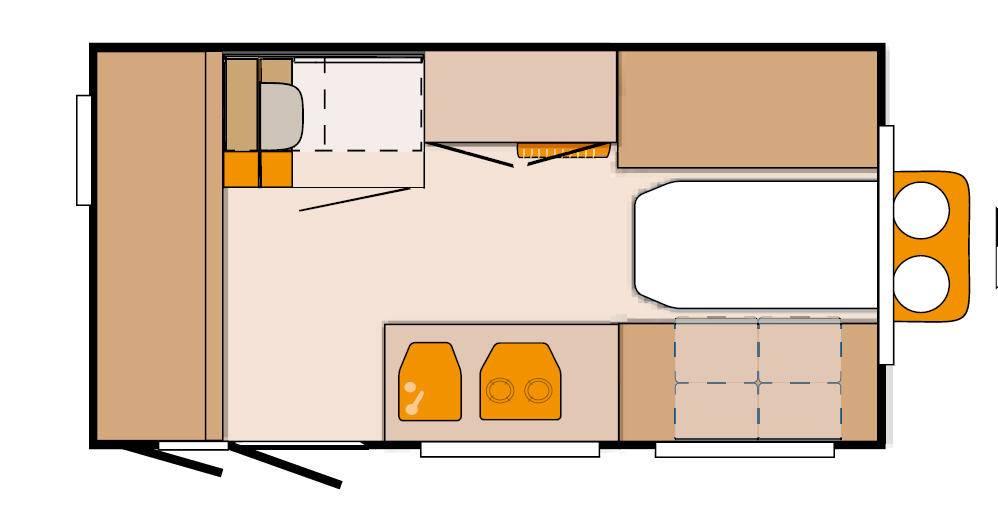 Knaus Deseo 400 variante 1 (LKK) - Plano - Distribución