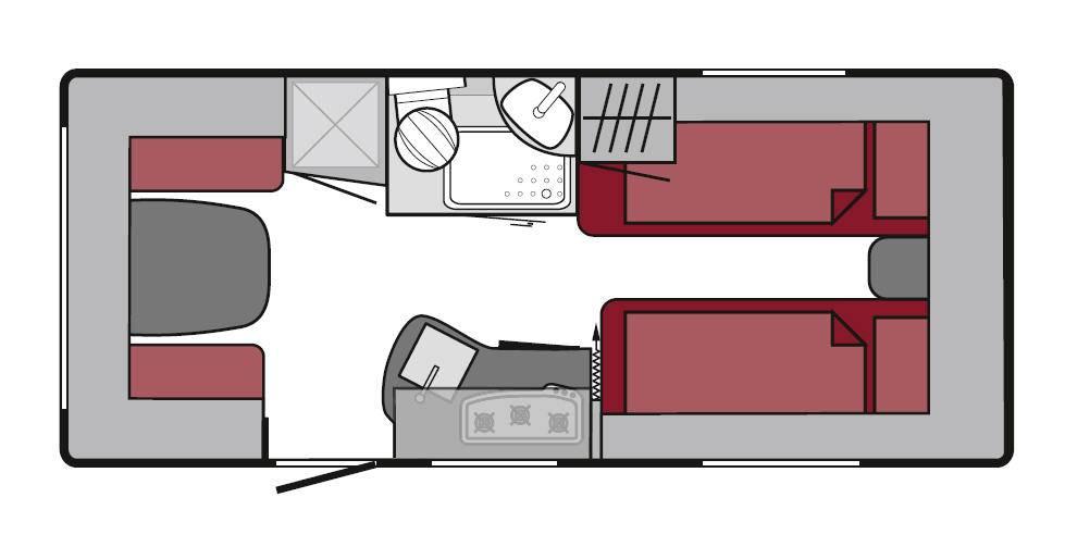 Tabbert Da Vinci 460 E - Plano - Distribución