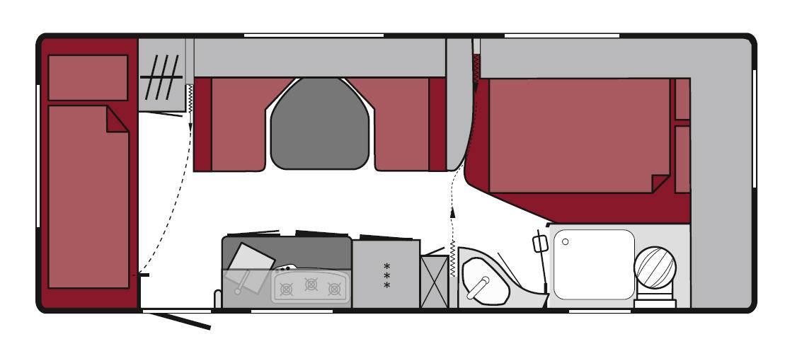 Tabbert Da Vinci 560 DM - Plano - Distribución