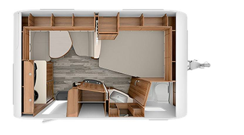 Tabbert Da Vinci 380 TD - Plano - Distribución
