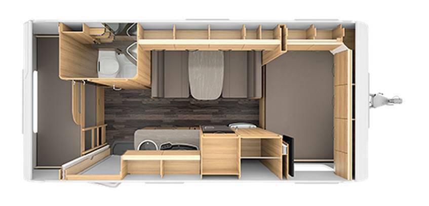Tabbert Cellini 490 E - Plano - Distribución
