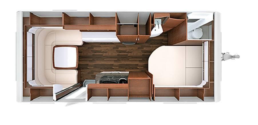 Tabbert Cellini 590 TD - Plano - Distribución