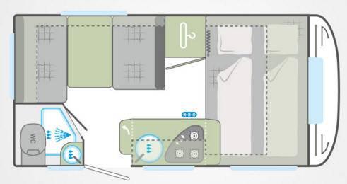 Weinsberg Cara One 390 QD - Plano - Distribución