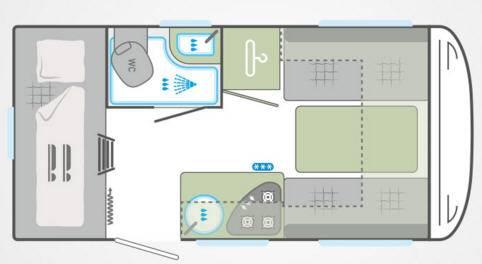 Weinsberg Cara One 400 LK - Plano - Distribución