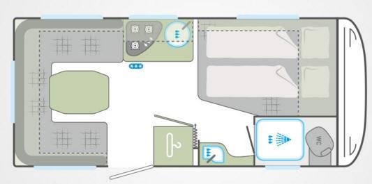 Weinsberg Cara One 450 FU - Plano - Distribución